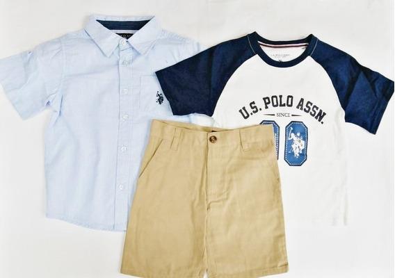 Conjunto 3 Piezas U.s. Polo Assan Niño 59298 #4-12 Años R