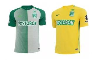 2 Camisas Atlético Nacional Local Y Visitante X Promoción