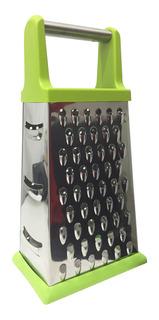 Rallador 4 Caras Acero Inoxidable Antideslizante Silicona