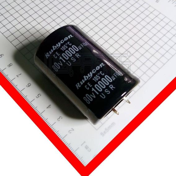 10000uf 80v Condensador Filtro Capacitor Rubycon Japon Cap1