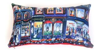 Almohadón Rectangular De Diseño - Pintura Naif