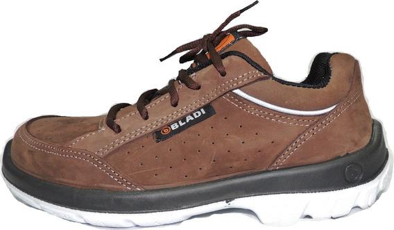 Zapato Seguridad Bladi Boris Zapatilla Funcional Ultra Liviano Poliuretano Cuero Respirable Homologada Quilmes Oferta