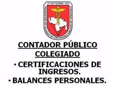 Contador Público Colegiado, Balance Personal Y Certificación