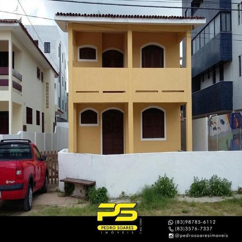 Casa Com 5 Dormitórios Para Alugar, 360 M² Por R$ 25.000 - Camboinha - Cabedelo/pb - Ca0680