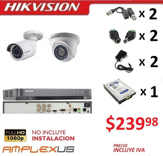 Kit 4 8 16 Camaras Seguridad Vigilancia 1080p Hikvision Dvr