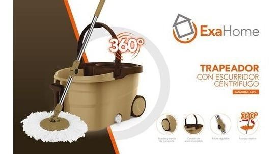 Trapeador Mop Exahome Mopa Lampazo Ruedas Premium 360