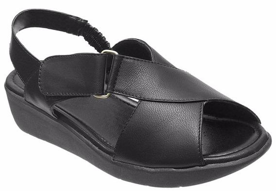 Sapato Feminino Sandálias Em Couro Conforto Sola Anatomica