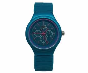 Relógio Feminino Laranja, Azul Marinho