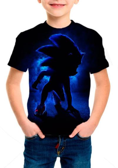 Camiseta Infantil Filme Sonic Hedgehog - M02