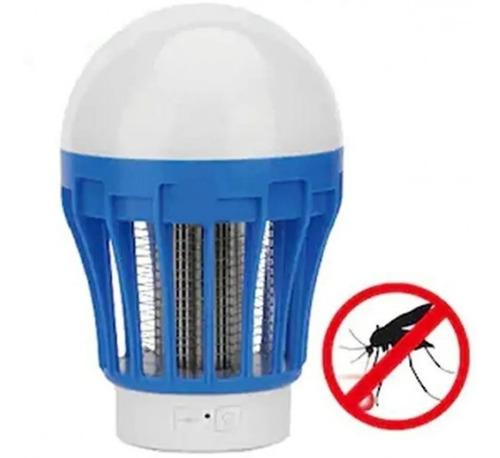 Lâmpada Recarregável Mata Moscas Mosquitos E Pernilongos