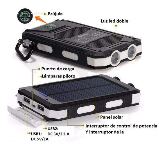 Envio Gratis Batería Solar Lampara Banco Celular Usb Xto
