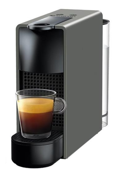 Cafetera Nespresso Essenza Mini Gris Capuchino Espumador Leche Eco Friendly