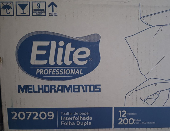 Toalha De Papel Interfolhado Folha Dupla 2.400 Folhas