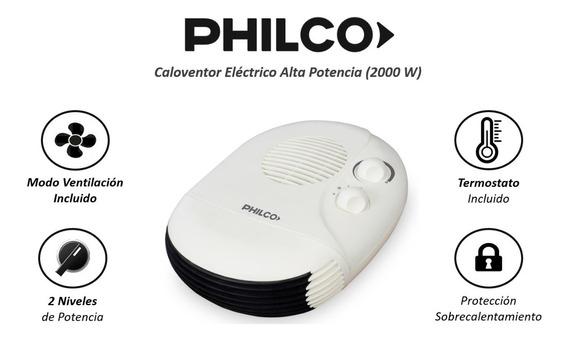 Caloventor Eléctrico Philco 2000w Termostato 2 Niv De Pot
