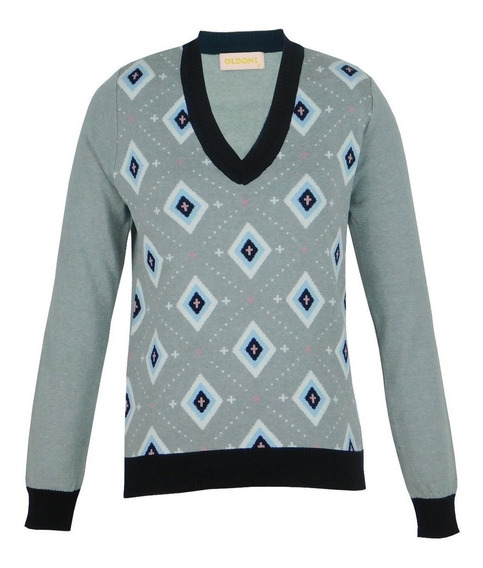 Blusa Malha Trico Tricot Feminina Inverno Frio Cinza Sueter