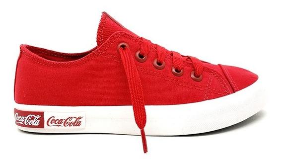 Tênis Casual Coca Cola Blend Canvas Vermelho