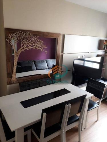 Imagem 1 de 16 de Apartamento 47 Metros 2 Dormitórios 1 Vaga De Garagem Mobiliado Já Com Acabamento! - Ap0312