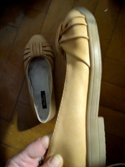 Zapatos Cuero Chatitos Elegante Sport