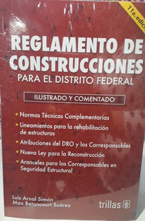 Reglamento De Construcciones 2020 Del Df Arnal 11va Edición