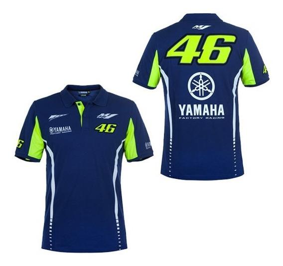 Playera Polo Azul Yamaha Valentino Rossi Vr46 Envio Gratis