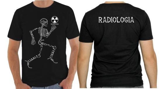 Camisa Camiseta Preta Curso Radiologia Frente E Costa