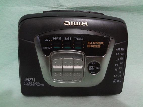 Stereo Cassette Player E Radio Fm-am Aiwa Ta 271 Super Bass
