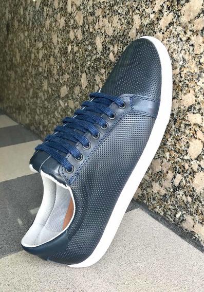 Zapatillas Urbanas Azul Con Suela Hasta El Nro. 50