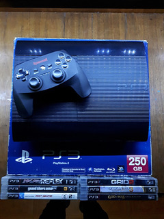 Ps3 Super Slim 250gb + 11 Juegos + Joystick