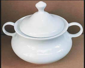 Sopeira Grande Branca Em Porcelana Legítima 4150 Ml