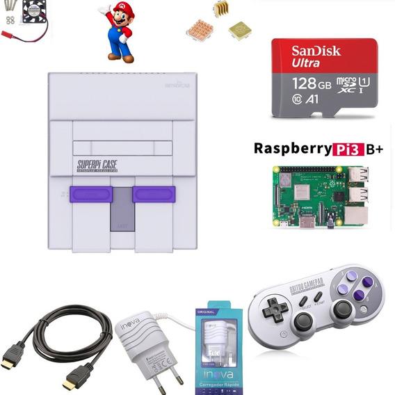 Super Nintendo Mini Sd 128gb + 1 Controle Snes30 8bitdo