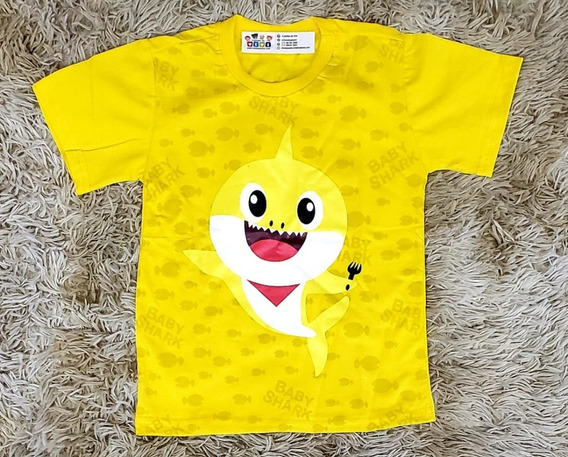 Kit 10 Camisetas Baby Shark