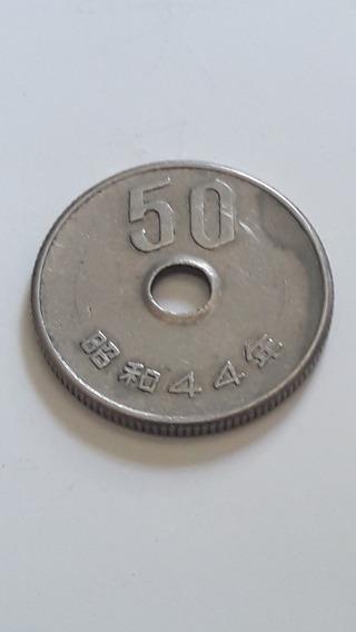 * Moneda De Japón. Agujero Central. Año 44