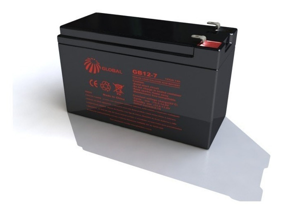 Bateria Selada 12v 28w Gp 1272 F2 - 12v 7,2ah Global Gb12-7