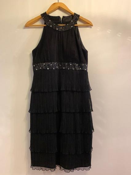 Vestido Negro Con Detalles En Brillo Comprado En Usa