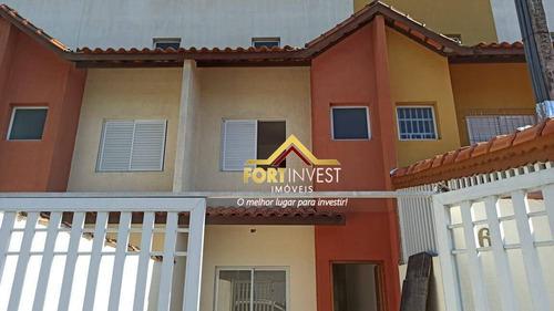 Sobrado Com 3 Dormitórios À Venda, 82 M² Por R$ 285.000,00 - Mirim - Praia Grande/sp - So0131