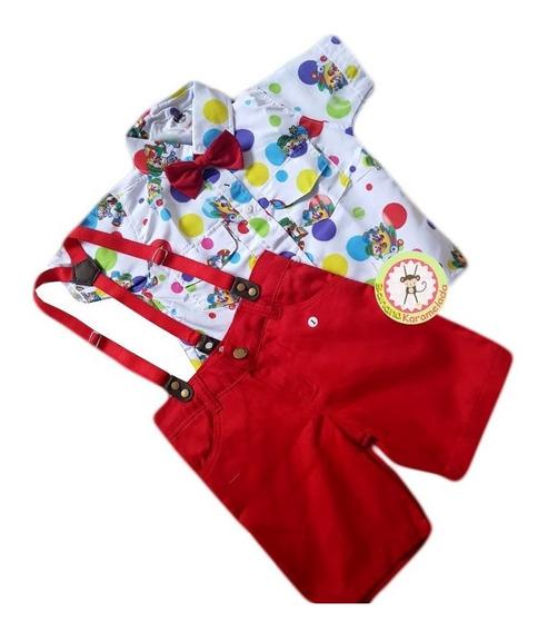 Conjunto Patati Patatá Camisa Infantil Festa