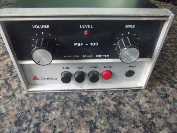 Pre Amplificador Antigo Universal Amelco Psf-100 Funciona Ok