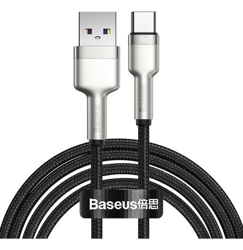 Cable Usb Tipo C Baseus Metalico Carga Rápida 40w 200cm