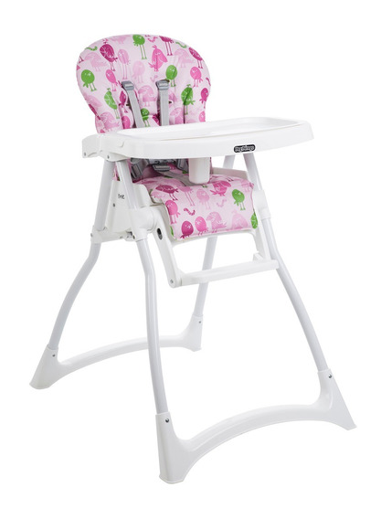 Cadeira Cadeirão Refeição Merenda Passarinhos Rosa Burigotto
