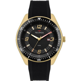 Relógio Masculino Technos Dourado Esportivo Casual Luxo