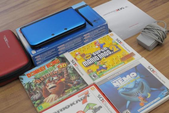 Nintendo 3ds, Xl + Jogos. Pouquíssimo Usado.
