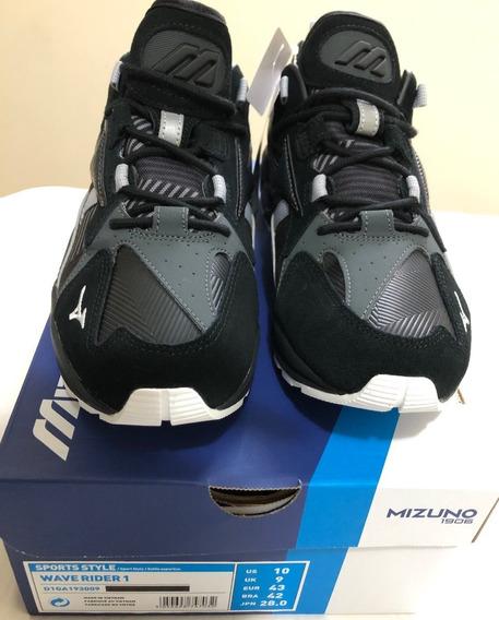 Tênis Mizuno Wave Rider 1 Urban Black Sneakers 42br - 10 Us
