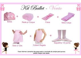 Kit Ballet Roupa Uniforme - Verão - 7 Peças