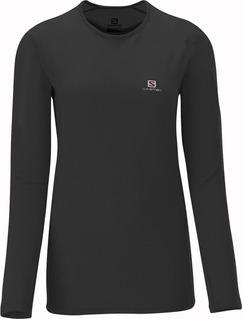Remera Camiseta Termica Salomon Hybrid - Mujer Invierno Frío