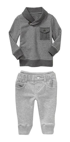 Conjunto Para Niño Stripped Jeans Pantalón Y Camisa Algodón