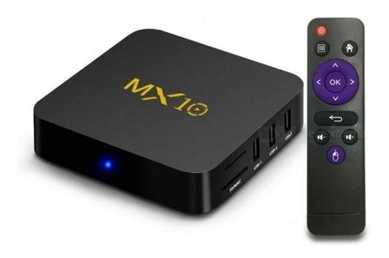 Tv Box Mx10 Media Player Android 9 Com 4gb / 32gb Até 4k