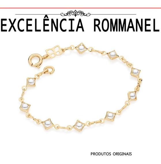 Pulseira Rommanel Fio 8 Infantil Perolas 551313