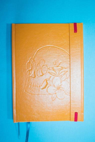 Cuaderno Artesanal Gofrado Calavera A5 48 Hojas Lisas 150g