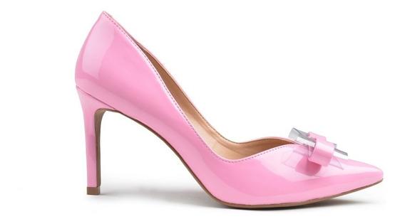 Zapatos De Mujer De Cuero Charolado Saint Jea - Ferraro -