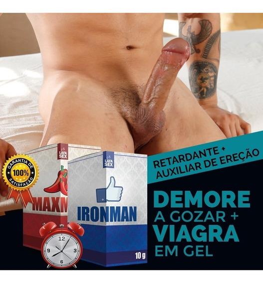Kit Sexy Shop Gel Deixa Pau Duro + Retarda Ejaculação 4un Ap